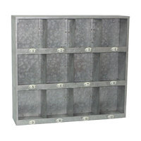 Cheung's Rattan Imports Galvanized Metal Wall Cubby with Number Labels