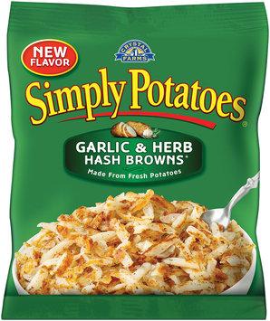 Simply Potatoes® Garlic & Herb Hash Browns 20 oz. Bag