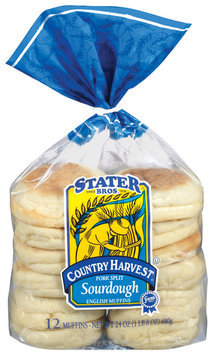 Stater Bros. Fork Split Sourdough English Muffins