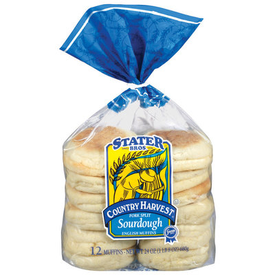 Stater Bros. Fork Split Sourdough English Muffins