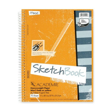Mead Products Mead Wirebound Sketch Book, w/ Pockets, 11