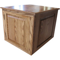 Classic Pet Beds Raised Panel Litter Box Concealment Cabinet Finish: Medium Walnut, Side Opening: Left