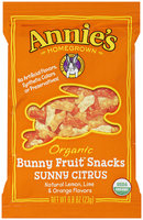 Annie's Homegrown® Sunny Citrus Organic Bunny Fruit™ Snacks