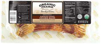 Organic Prairie Organic Hardwood Smoked Uncured Frozen Bacon  8 Oz Package