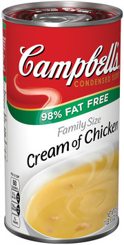 Campbell's® 98% Fat Free Condensed Cream of Chicken Soup Family Size 22.6 oz. Can