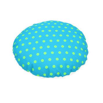 Divine Designs Polka Dot Dog Bed Color: Aqua, Size: Medium - 35