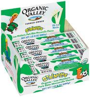 Organic Valley String Cheese Mozzarella Organic 1 Oz Stringles 24 Ct Tray