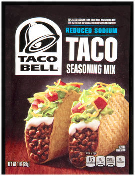 Taco Bell® Reduced Sodium Taco Seasoning Mix 1 oz. Packet