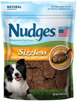 Nudges® Beef & Cheese Sizzlers Wholesome Dog Treats 18 oz. Bag