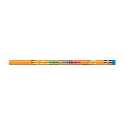 Moon Products Decorated Wood Pencil, Happy Birthday, #2, Dozen