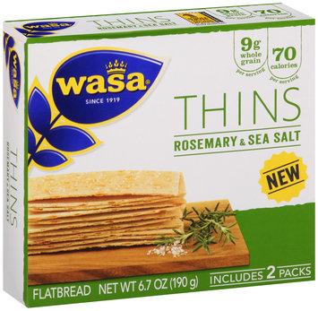 Wasa® Thins Rosemary & Sea Salt Flatbread 6.7 oz. Box