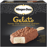 Haagen-Dazs Honey Milk Chocolate Graham Italian Style Frozen Gelato Ice Cream Bars