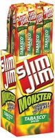 Slim Jim Monster TABASCO Spiced 1.94 Oz Spicy Smoked Snack 18 Ct Box