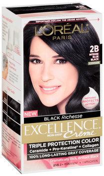 L'Oréal® Paris Excellence® Creme® Triple Protection 2B Intense Blue Black Cooler Hair Color Kit Box