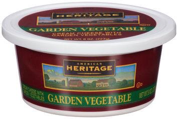 American Heritage® Garden Vegetable Cream Cheese 8 oz. Tub