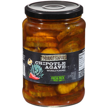 Market Stand Chipotle Agave Fresh Pack Pickle Chips 24 fl. oz. Jar