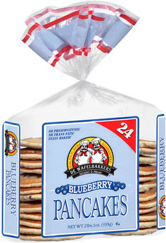De Wafelbakkers Janssen & Meyer® Blueberry Pancakes 24 ct Bag