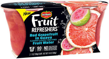 Del Monte® Fruit Refreshers™ Red Grapefruit in Guava Flavored Slightly Sweetened Fruit Water 2-7 oz. Cups