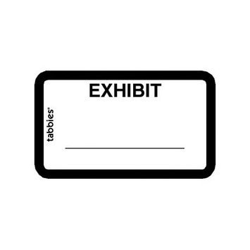 Tabbies TAB58092 Color-Coded Legal Exhibit Labels Pack of 252