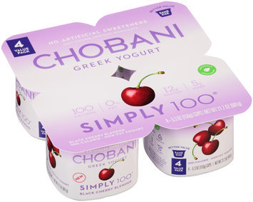 Chobani® Simply 100® Blackberry Blended Greek Yogurt