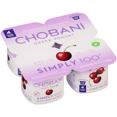 Chobani® Simply 100® Black berry Blended Greek Yogurt