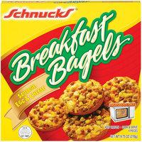 Schnucks Sausage Egg & Cheese Breakfast Bagels 9.75 Oz Box
