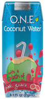 O.N.E.™ Coconut Water Beverage with a Splash of Pink Guava 8.5 fl. oz. Carton