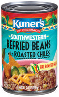 Kuner's Southwestern W/Roasted Chiles Refried Beans 15.5 Oz Can