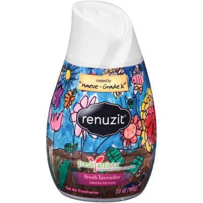 Renuzit® Fresh Artists® Limited Edition Fresh Lavender Gel Air Freshener 7 oz. Plastic Container