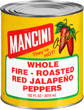 Mancini Whole Fire - Roasted Red Jalapeno Peppers 102 fl. oz. Can