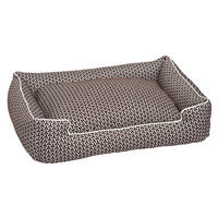 Jax And Bones Premium Cotton Blend Lounge Bed Color: Eve Chocolate, Size: Small - 18