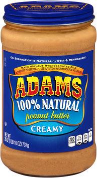 Adams® Creamy 100% Natural Peanut Butter 26 oz. Jar