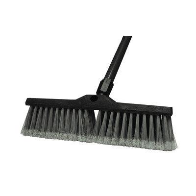 Update International FPB-24 24 inch Floor Push Broom with Sure-Grip Metal and Swivel Handle Grey