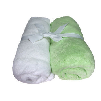 Cozy Fleece Microplush Fitted Crib Sheet Color: Mint/White