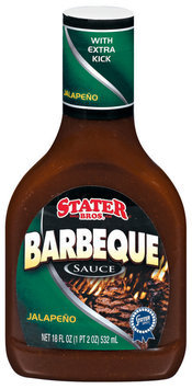 Stater Bros. Jalapeno  Barbeque Sauce 18 Fl Oz Plastic Bottle