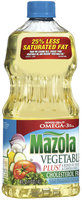 Mazola Plus! Vegetable Oil 48 Oz Plastic Bottle