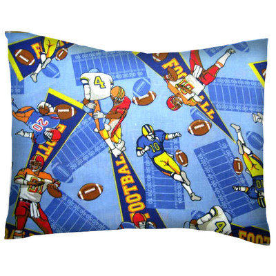 Stwd Football Cotton Percale Crib/Toddler Pillow Case
