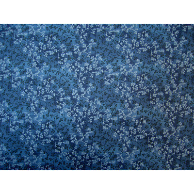 Stwd Floral Fitted Bassinet Sheet Color: Denim Blue