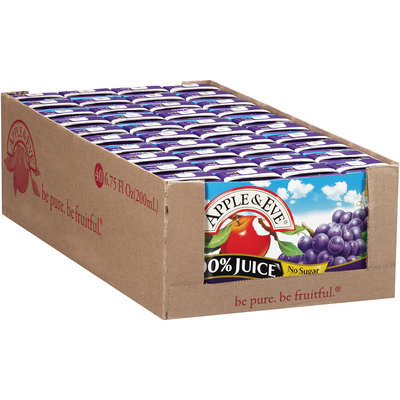 Apple & Eve® Grape 100% Juice 8-6.75 fl. oz. Aseptic Packs