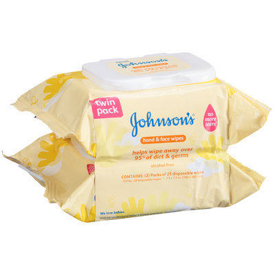 Johnson's® Hand & Face Wipes