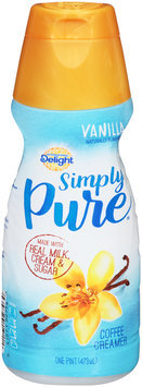 International Delight™ Simply Pure® Vanilla Coffee Creamer 1 pt. Bottle