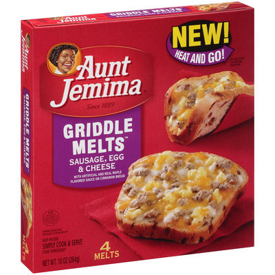 Aunt Jemima® Sausage, Egg & Cheese Griddle Melts™ 10 oz. Box