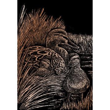 Royal & Langnickel Ducks Copper Regular Size Engraving Art Scraperfoil
