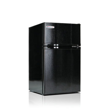 Microfridge Safe Plug 3.1 cu. ft. Freestanding Compact Refrigerator Color: Black