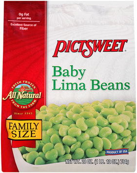 ALL NATURAL Baby Lima Beans 28 OZ STAND UP BAG