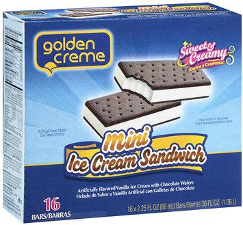 Golden Creme Mini Ice Creme Sandwich 16 ct 2.25 fl oz
