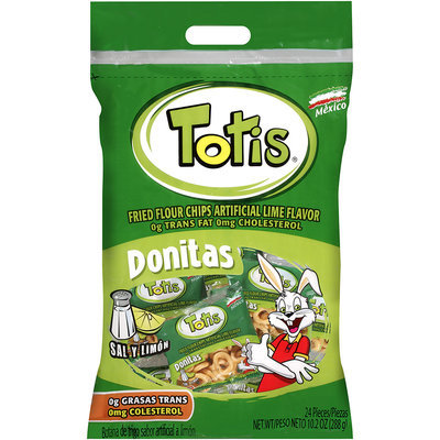 Totis® Fried Flour Chips  Artificial Lime Flavored 10.2 oz.