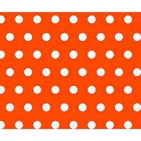 Stwd Polka Dots Portable Mini Fitted Crib Sheet Color: Orange