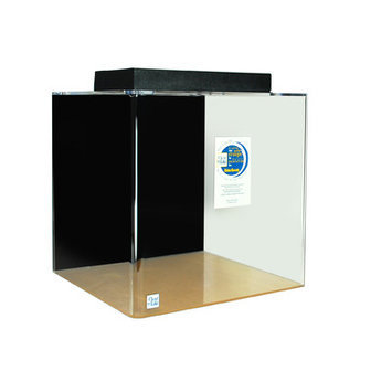 Clearforlife Cube Acrylic Aquarium Tank Color: Black, Size: 24