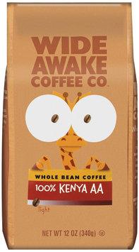 Wide Awake Coffee Company 100% Kenya AA Light Whole Bean Coffee 12 Oz Stand Up Bag
